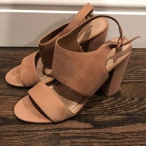 Aldo suede tan heels some stains SIZE US 8